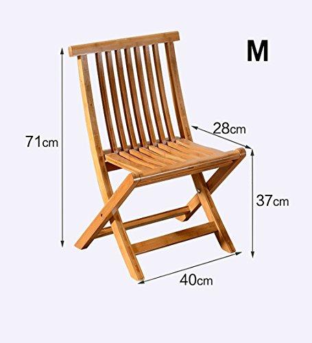ZEMIN Escabeau Chaise Pliante en Bois Massif Étude Unique Chaise Ordinateur Nordique arrière, Marron Clair (Taille : 40 * 28 * 71CM)