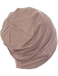Unisex en interiores algodón Beanie- suave sueño Cap para Hairloss, Cáncer, Chemo