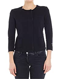 Sun 68 Women's F1820411 Black Cotton Sweatshirt
