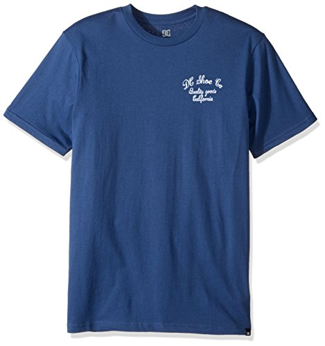 DC Mens Squander Short Sleeve Tee Shirt Washed Indigo