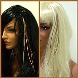 Sexy Sparkles Damen Feder Hair Extension Natural Mix 17,8cm-10