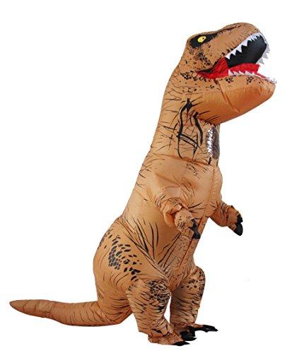 aufblasbare T-rex Dinosaurier-Partei-Kost¨¹m Lustige Kleid Braun (Scary Halloween Kostüme Für Jugendliche)