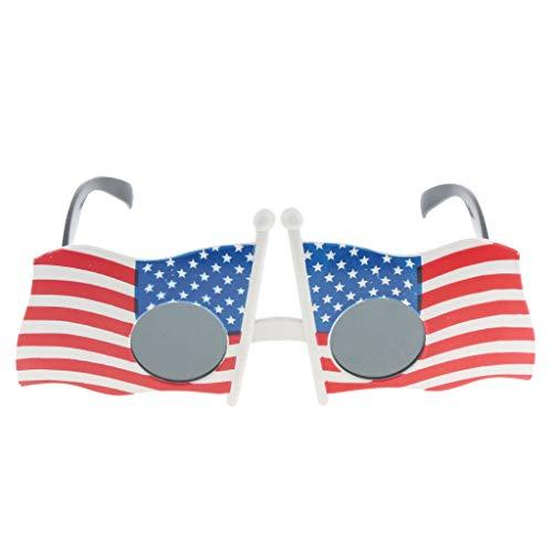Partybrille Spaßbrille Retro lustige Gläser Brille Faschingskostüm Karnevalskostüm - USA Flagge