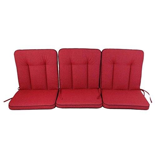 Polsterauflage OUTLIV. 3-Sitzer-Auflage rot für Romeo / Rosanna Elegance Sitzauflage