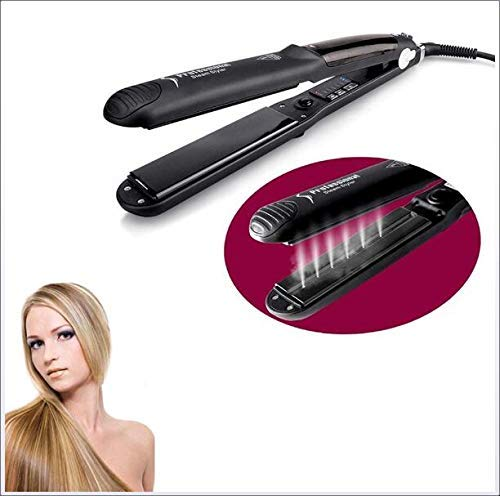 LYDB Steam Hair Straightener Glätteisen Digitale LCD-Temperaturregelung Breite Platten Hochentwickelter Glätteisen aus Keramik großartigen Styler zu Hause