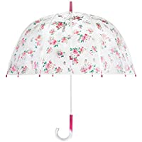 Cath Kidston Grove Bunch Birdcage Clear Dome Shape Ladies Walking Umbrella 8F3755