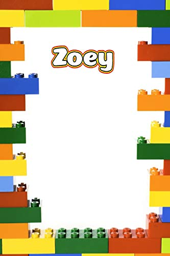 Zoey: Building Brick Blank Comic Book Notebook Journal book 120 pages 6