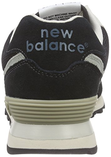 New Balance Wl574, Baskets Basses Homme Noir (Black/Brown)