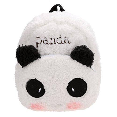 Befied Kinder Schultasche kleinen niedlichen Panda Form Plüsch Rucksack Schöne Kindergarten Schulrucksack