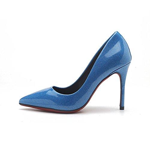 FLYRCX Una signora con una multa pregiata pelle tacchi alti Sexy paillettes scarpe scarpe Asakuchi party A