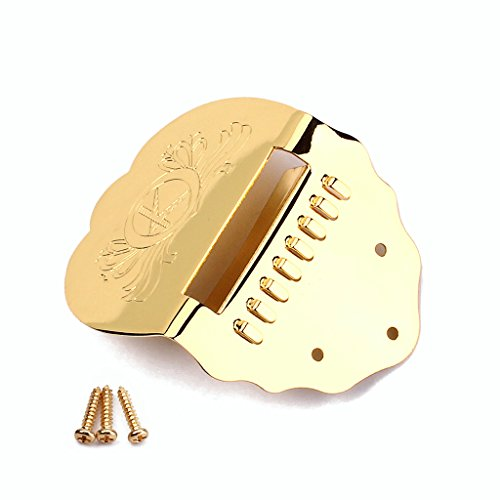 Gold K Wort Scalloped Mandoline Ersatz Tailpiece Scalloped Gold