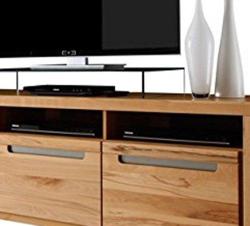 trendteam ZO32065 TV Möbel Lowboard, BxHxT 178 x 59 x 50 cm, Korpus Kernbuche Nachbildung und Fronten in Kernbuche massiv - 3