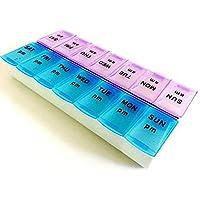 AM PM 7 Tag gro?e Pillen Medizin Tablet Box Dispenser Veranstalter Fall preisvergleich bei billige-tabletten.eu