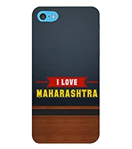 HiFi Designer Phone Back Case Cover Apple iPhone 6s Plus :: Apple iPhone 6s+ ( I Love Maharashtra Blue Wood Look )