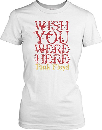 Wish you were there - Quote - Ladies T-Shirt - White - Large
