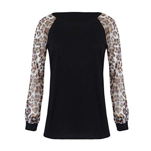 VEMOW Heißer Verkauf Sommer Herbst Winter Frauen Mädchen Leopard Bluse Langarm Mode Damen T-Shirt Oversize - Damen Auf Verkauf Strickjacke Pullover