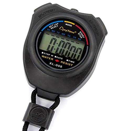 FiedFikt Multifunktions-Elektronischer Chronograph Sport Stoppuhr Digital Timer Stopp - Radio Am-pm