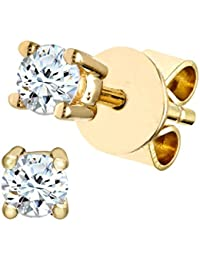 Naava Women's 0.25 ct Diamond 9 ct Yellow Gold Stud Earrings