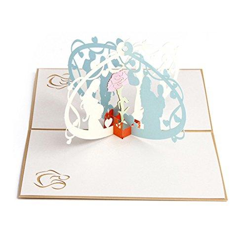 ZOOMY 3D Pop Up Mom and Me Grußkarten Weihnachten Geburtstag Muttertag 10x15cm