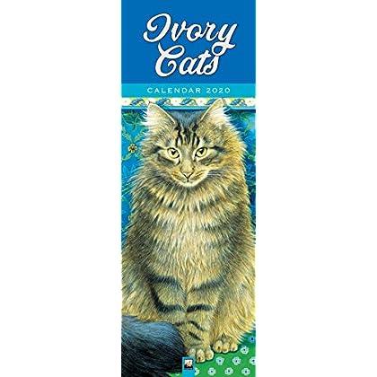 Ivory Cats Slim 2020 Calendar