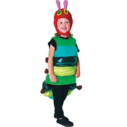 Kleine Raupe Nimmersatt Premium Raupe Kostüm Kinder Unisex Amscan (Dress Fancy Insekten)