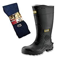 JCB Hydromaster Safety Wellington Boots and Boot Socks