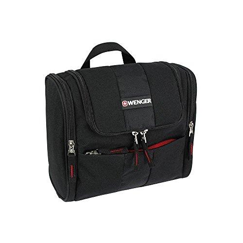 Wenger Herren Kulturtasche, schwarz Kulturbeutel, groß schwarz zum aufhängen, Urlaub Waschbeutel