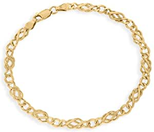 Carissima Gold 9 ct Yellow Gold Celtic Bracelet of Length 18 cm/7 inch