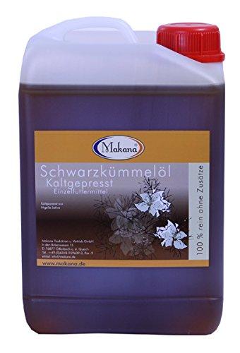 Makana Schwarzkümmelöl für Tiere, kaltgepresst, 100% rein, 3000 ml Kanister (1 x 3 l)