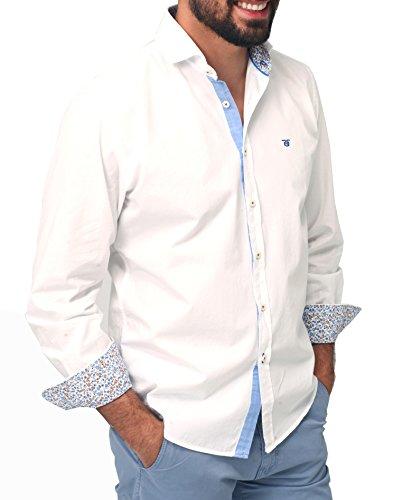 TITTO BLUNI Herren Freizeit-Hemd Weiß