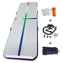 Home U Airtrack für Gym Training Air Floor Yoga Trainingsmatten Aufblasbare Sport Matratzen (3x1x0.1m, Bunt-3)