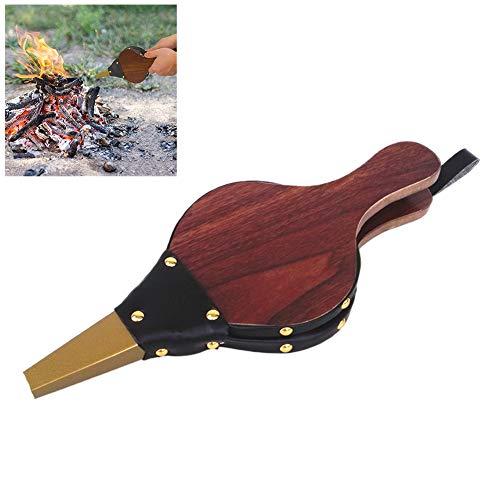Comtervi - Fuelle para Chimenea, diseño de Palmeras de Color marrón Oscuro, Ventilador de lámpara de Fuego para Horno, Accesorio Principal de Cocina, 30,5 x 12,5 cm