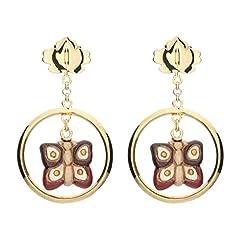 Idea Regalo - THUN ® - Orecchini Butterfly Autumn - con Farfalla