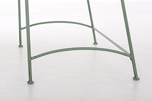 CLP Eisen-Gartenbank ADELE im Landhausstil, aus lackiertem Metall, 107 x 54 cm Antik Grün - 8