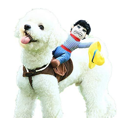 dianzishangcheng Hundekostüm, Halloweenanzug, Cowboy-Reiter, Größe M