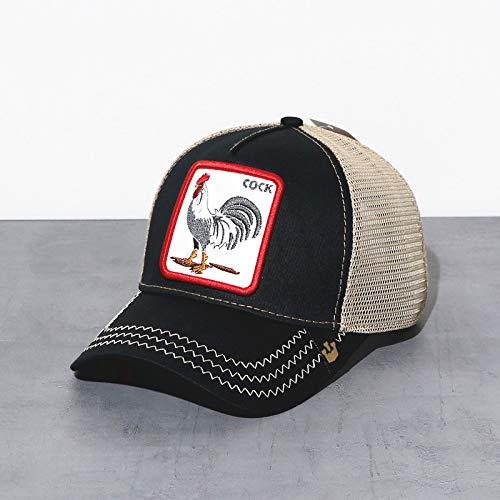 sdssup Pájaro Carpintero Sombrero Bordado Malla Gorra Ojo Negro Ajustable