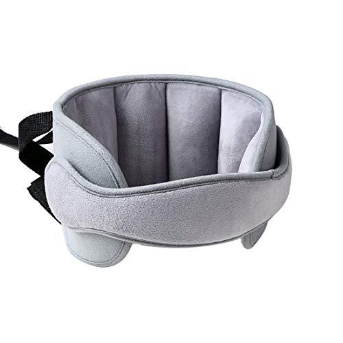 Calemei Nackenstützen für Kinderautositze, Autositz Kopfband-Verstellbarer Komfortable Safe Sleep Lösung (Grau)