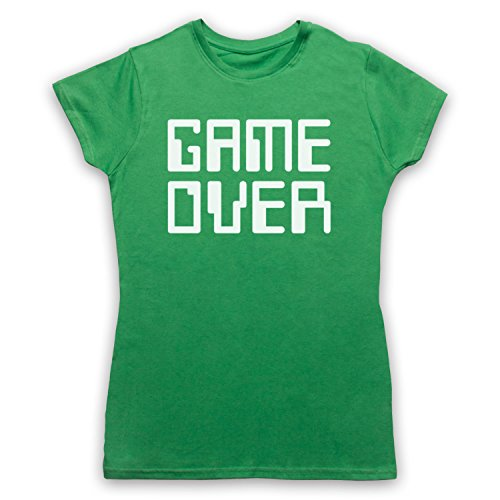 Game Over Hipster Damen T-Shirt Grun