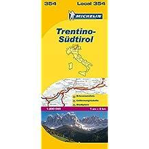 Michelin Trentino - Südtirol: Straßen- und Tourismuskarte 1:200.000 (MICHELIN Localkarten)