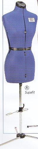 Schneiderbüste blauer Nylonbezug, Grösse JUNIOR mit Dreibeinstativ