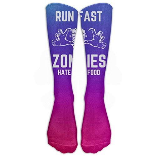 arm Winter Knee High Socks Zombies Hate Fast Food Great Quality Men 1 Pair Long Tube Stockings for Athletic Football ()