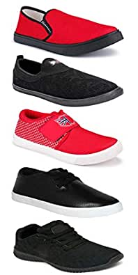 WORLD WEAR FOOTWEAR Sports Running Shoes/Casual/Sneakers/Loafers Shoes for MenMulticolors (Combo-(5)-1219-1221-1140-748-1074)