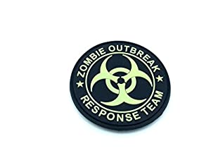 Zombie Outbreak Response Team Glow in the Dark Airsoft Patch en PVC