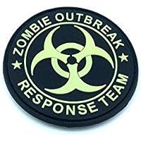 Zombie Outbreak Response Team brilla en la oscuridad Airsoft PVC Parche
