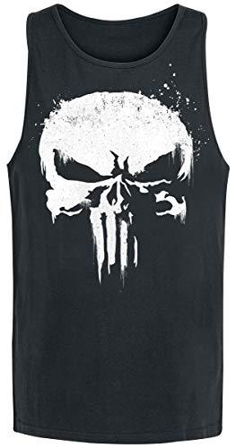 Unbekannt The Punisher Sprayed Skull Logo Tank-Top schwarz M (Marvel-comic-tank)