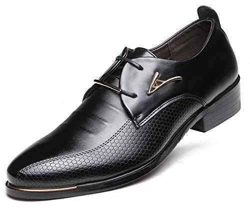 AARDIMI Herrenschuhe Herren Uniform Berufsschuhe Elegant Businessschuhe Lederschuhe Hochzeit Schuhe (43, Schwarz)