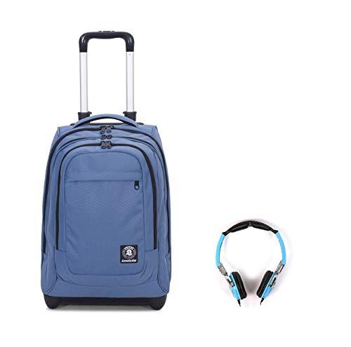 Trolley zaino invicta bump plain scuola università viaggio 45l turchese blu + omaggio cuffie
