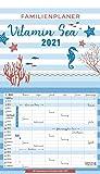 Familienplaner Vitamin Sea 2021: Familienplaner, 6 große Spalten. Mit Ferienterminen, extra Spalte und Vorschau bis März 2022 und vielem mehr. Format: 27 x 47 cm...