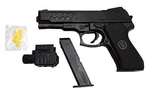 Funny Teddy Elite Hand Gun with Laser Beam Toy for Kids