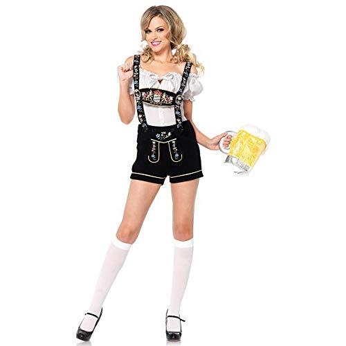 Kostüm Wench Shirt - MFBis Damenkostüm Oktoberfest Deutsches Bayerisches Biermädchen Drindl Tavern Wench Kostüm für Party, 2, Größe